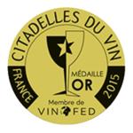 Les Citadelles du Vin 2015 aranyérem
