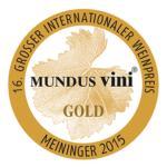 Mundus Vini 2015 aranyérem